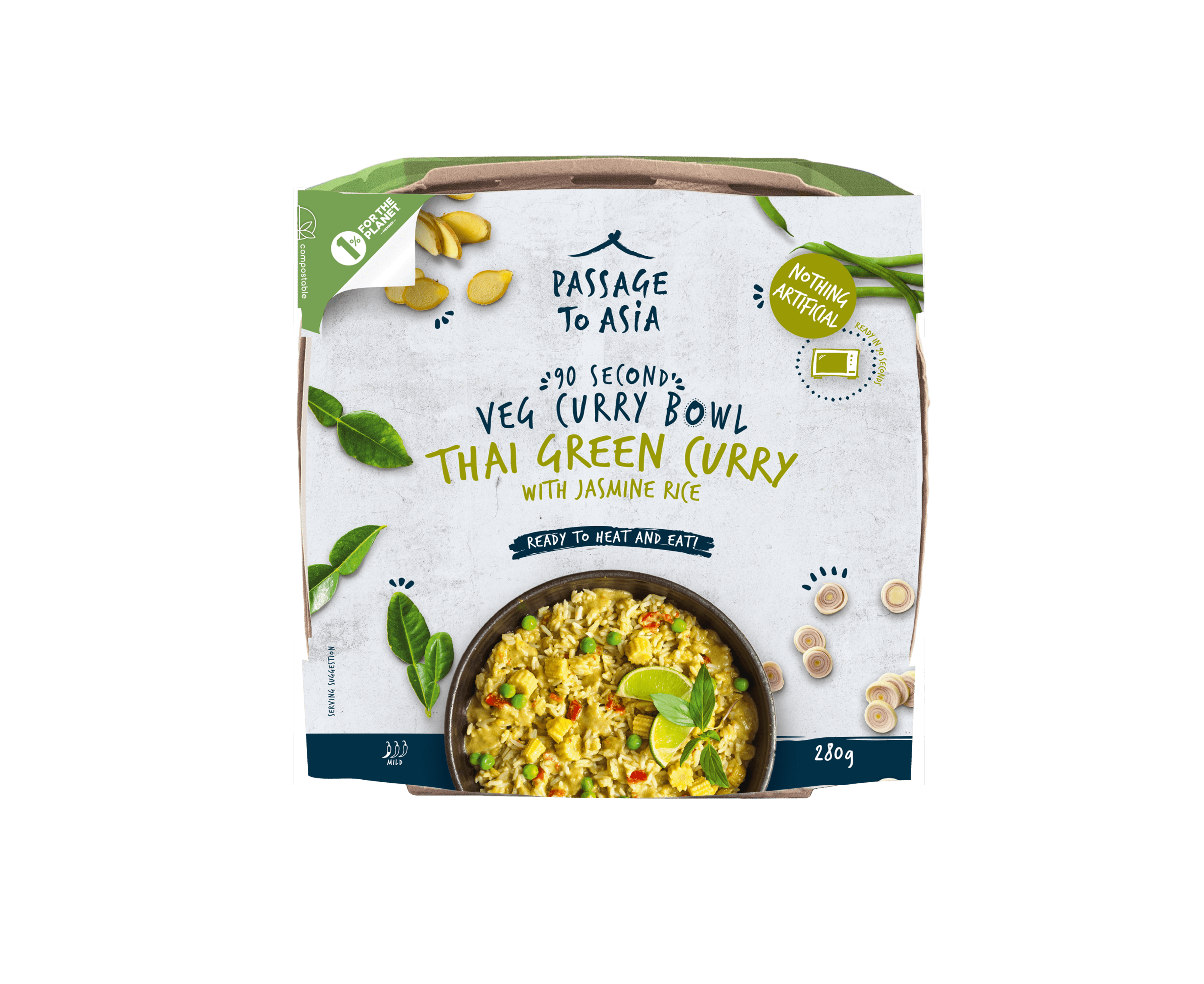 Green Thai Curry Bowl from the Passage to Asia Veg Curry Bowls Range
