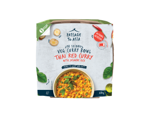 Red Thai Curry Bowl from the Passage to Asia Veg Curry Bowls Range