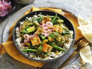 Saag Vegetable and Paneer Curry recipe