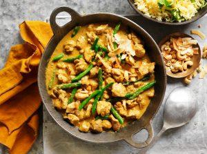 Sri Lankan Chicken Curry with Saffron Rice