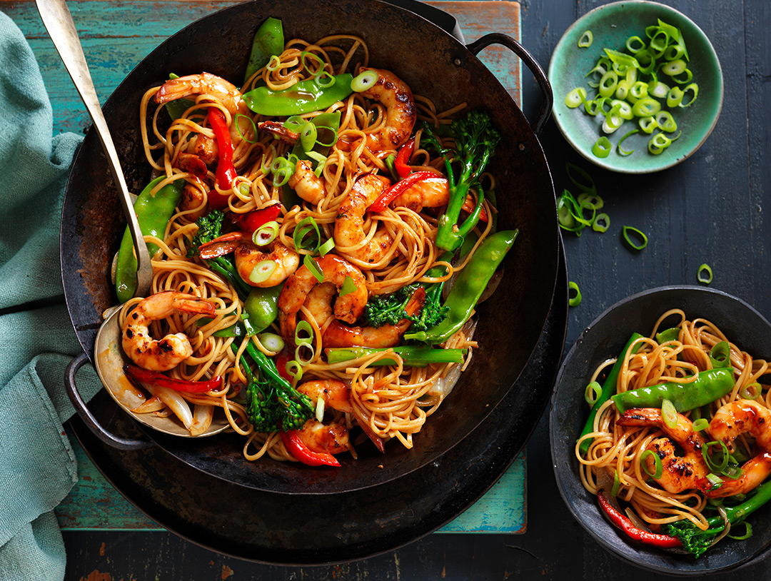 Honey & Soy Prawn Noodle Stir-fry