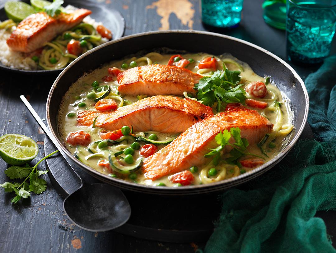 Green Thai Curry Salmon