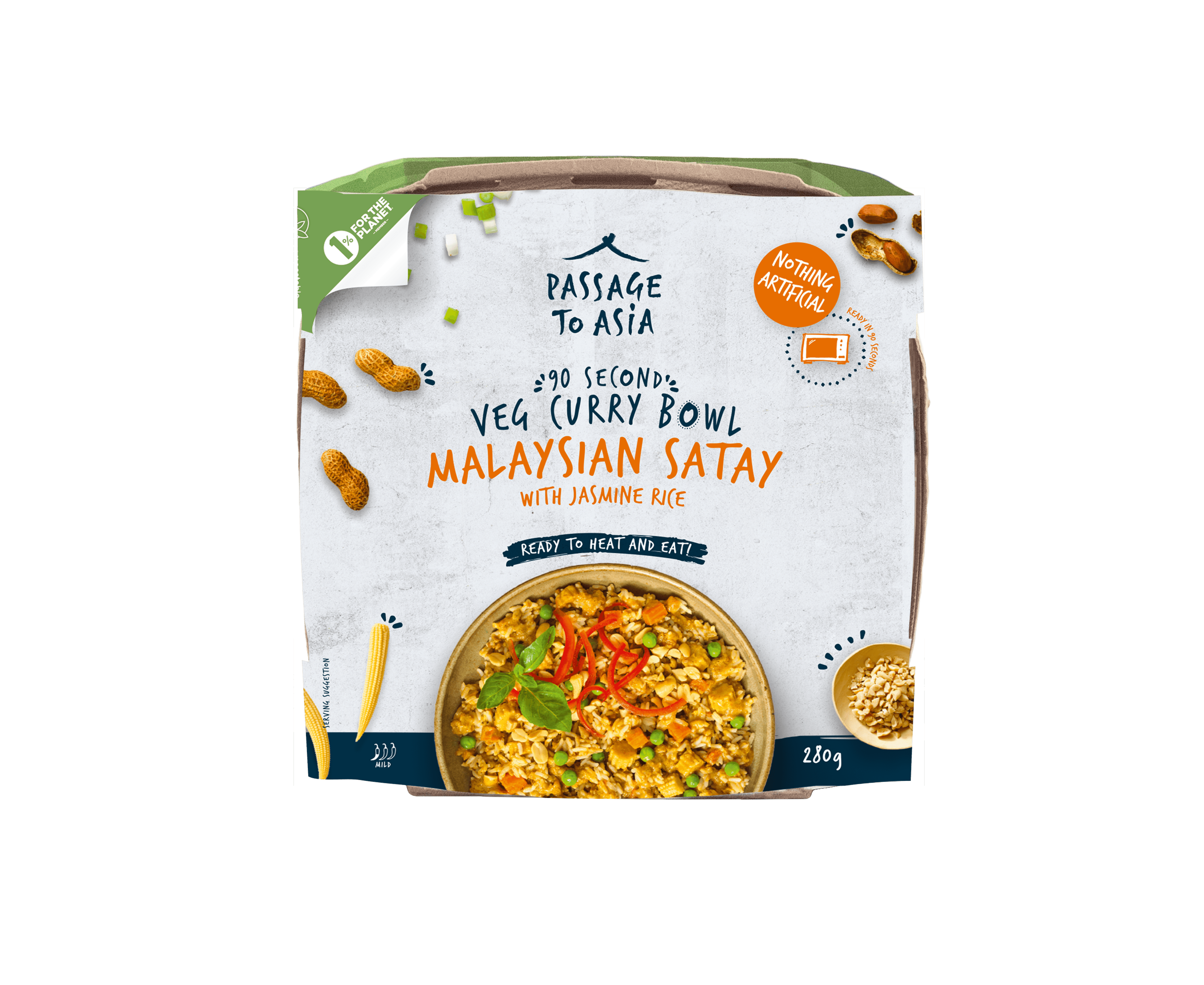 Malaysian Satay Curry Bowl from the Passage to Asia Veg Curry Bowls Range