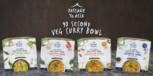 Four of the new Passage to Asia Veg Curry Bowls